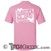 TGI Greek Tshirt - Alpha Gamma Delta - We run the world