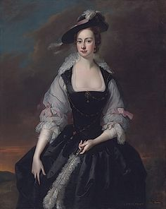 ca. 1741 Frances Courtenay, née Finch, wife of William Courtenay, 1st Viscount Courtenay by Thomas Hudson