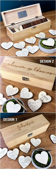 Wedding Guest Book – Guest Book Alternatives – Guest Book Sign – Personalized Custom Guest Book – Rustic Wedding Box – Hearts – Unique Ideas – Source by Wedding Welcome Signs, Wedding Signs, Post Wedding, Wedding Boxes, Wedding Table, Wedding Ceremony, Wedding Ideas Guests, Wedding Themes, Wedding Ideas 2018