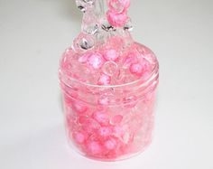 Bubbly Rosé // Pink Fishbowl Slime, Clear Slime, Floam, Slime, Crunchy Slime, Fishbowl Slime, Cheap Slime,