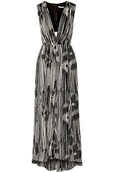 Alice   Olivia Lexa cutout silk-chiffon dress   THE OUTNET