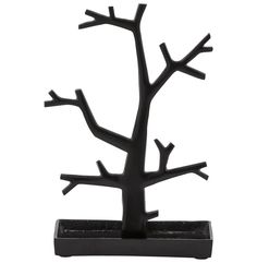 http://www.bonsoni.com/kendall-painted-aluminum-tree-jewelery-stand-black  The TREE jewellery tree will show off your gems and fashion jewellery. Modern and elegant this object in painted aluminium is practical and highly stable thanks to its weight.  http://www.bonsoni.com/kendall-painted-aluminum-tree-jewelery-stand-black