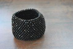 Handmade luxury wide bracelet.