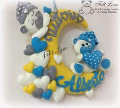 Fiocco nascita luna dolci orsetti gemellare : Altro bebè di feltlove