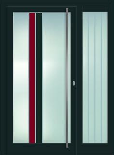 Modell Maia 2 Aluminium-Eingangstüre in grau mit Seitenteil - Innenansicht! Sternstunden-Türen erhätlich bei Fenster-Schmidinger aus Gramastetten in Oberösterreich! #doors #türen #alutüren #sternstunden