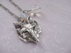 Necklace WOLF MOON pendant by BlueMoonHL on Etsy, $14.00