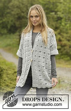 Ravelry: 0-1310 Silver Rain pattern by DROPS design...free crochet pattern!!