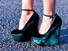 blue shoes!!! I so have an outfit these would go to