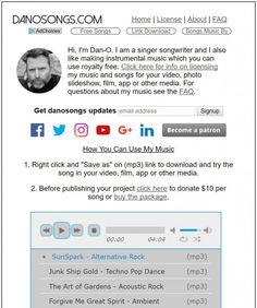 non copyrighted music danosongs