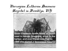 Norwegian Lutheran deaconess Hospital, Brooklyn, NY Sons Of Norway, Lutheran, Family History, Brooklyn, The Past, Photos, Pictures, Genealogy
