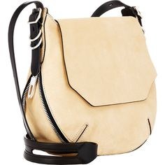 Rag & Bone Bradbury Flap-Front Small Hobo ($695) ❤ liked on Polyvore featuring bags, handbags, shoulder bags, accessories handbags, shoulder handbags, beige shoulder bag and beige purse