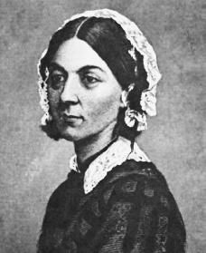 """Florence Nightingale b.1820  d.1910, """"The very first requirement in a hospital is that it should do the sick no harm""""."""