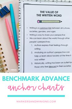 Benchmark Advance planned and prepped for you. The work is done! Each unit comes with filled out planning templates (broken down by week), fun unit extension activities and projects, and an anchor chart to use for frontloading and tying in the big unit ideas!