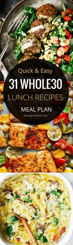 31 days of easy whole30 lunch recipes! Here it is! A quick, easy, and delicious meal plan for an entire month! Hit your goal with this easily customizable meal plan. Best whole30 lunch recipes all in one place. 31 days of whole30 lunch recipes! Whole30 meal plan that's quick and healthy! Whole30 recipes just for you. Whole30 meal planning. Whole30 meal prep. Healthy paleo meals. Healthy Whole30 recipes. Easy Whole30 recipes. Best paleo shopping guide. Easy whole30 lunch recipes. Easy whole30…