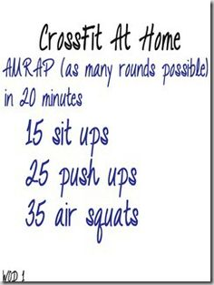At Home WOD 1
