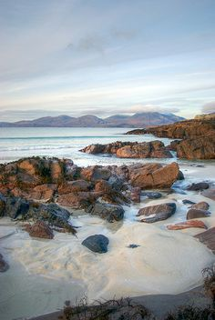 Luskentyre, Isle of Harris, Outer Hebrides, Scotland. This place is special Irish Landscape, Landscape Photos, Isle Of Harris, Orkney Islands, Outer Hebrides, Scottish Islands, Scotland Travel, British Isles, Beautiful Places