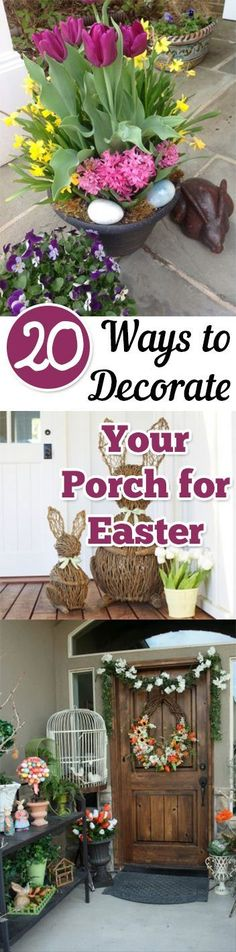 Easter Porch Decor, Porch Decor, Holiday Porch Decor, Porch Decor Easter, Easter Decor, How to Decorate for Easter, Porch Decor Ideas, Easter Porch, Easy Ways to Decorate Your Porch, Popular Pin. #easter #easterdecor