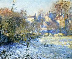 Frost, 1875 by Claude Monet. Impressionism. cityscape