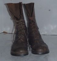 VINTAGE WW 2 WW II US Army or Marine Corps Combat Paratrooper Jump Boots Brown