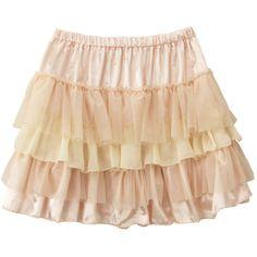 フラワーデザイン シフォン フリンジカーディガン ❤ liked on Polyvore featuring skirts, mini skirts, bottoms, saias, faldas and beige skirt