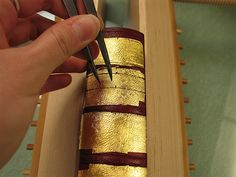 Process of gold tooling and gilding