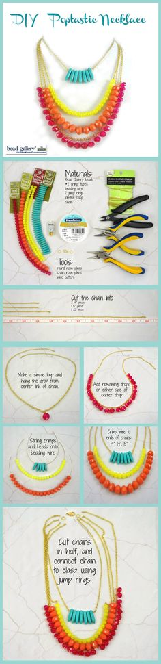 DIY Poptastic Statement Necklace made with Bead Gallery beads from @michaelsstores