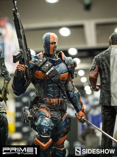 Prime 1 at Comic-Con! Deathstroke Cosplay, Deathstroke Comics, Deathstroke The Terminator, Dc Comics Art, Marvel Dc Comics, Univers Dc, Dc Characters, Dc Heroes, Mask Design