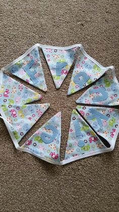 Personalised bunting baby boys gift
