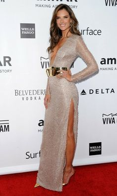 Alessandra Ambrosio Arrivals at the amfAR Inspiration Gala at the Milk Studios in Los Angeles on December 12, 2013.