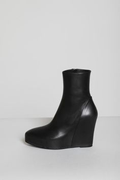 """lovertolover: """" Alison's Boots: Ann Demeulemeester - Black Hidden Wedge Ankle Boot (sold out everywhere *deeply saddened face*) """""""