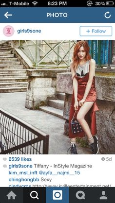 Tiffany Hwang, Korean Brands, Instyle Magazine, Butterfly Kisses, Branded Bags, Running Shoes Nike, Girls Generation, Wrap Dress, Sexy