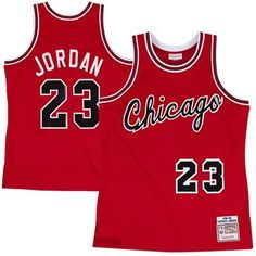 3175d180e Mitchell   Ness Chicago Bulls Michael Jordan 1984-1985 Hardwood Classics  Authentic Rookie Road Jersey