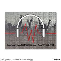 The most popular business cards ideas are on pinterest dj business cool dj metalic business card reheart Image collections