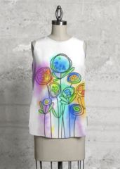 WATERCOLOR DESIGN T-SHIRT FLOWERS DREAM: What a beautiful product!