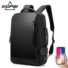 0b06f34d5b5d BOPAI Brand Enlarge Backpack USB External Charge 15.6 Inch Laptop Backpack  Shoulders Men Anti-theft