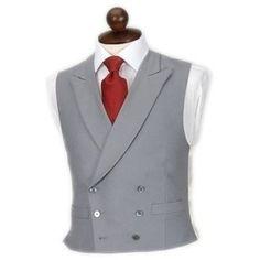 Morning dress notch collar vest