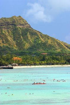 Diamond Head- Waikiki Beach- Honolulu- Hawaii