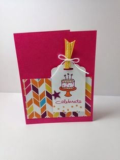 Shell's life: Endless Birthday Wishes Stampin' Up! Tag Top Scallop punch, Endless Wishes Birthday stamps, Itty Bitty Accents punch pack, Sweet Taffy dsp.  Please check out blog for details!