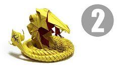 Part1/5 : How to fold Origami Devil Cobra / Hell Cobra 摺紙魔鬼眼鏡蛇教學 - YouTube
