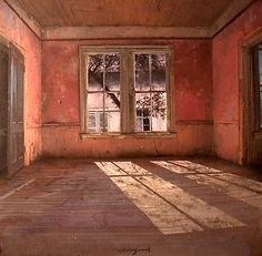 Matteo Massagrande. Wow, this could easily be a painting of our house before restoration.