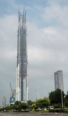 Estrutura do China 117 alcança 597 metros de altura.