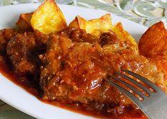 Krkovice pečená na cuketové směsi recept - TopRecepty.cz Pork, Food And Drink, Beef, Chicken, Ethnic Recipes, Kale Stir Fry, Meat, Pork Chops, Steak
