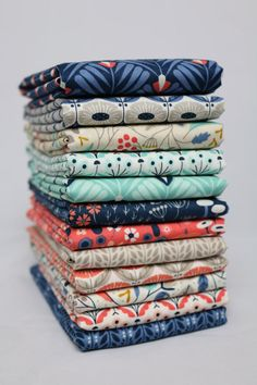Wildwood Complete Collection by Elizabeth Olwen for Cloud 9, 12 Fat Eighths, 100% Organic Cotton quilt weight fabric, FREE SHIPPING in US