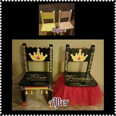 Time Out Chairs.  Prince and Princess by Creatively Christy
