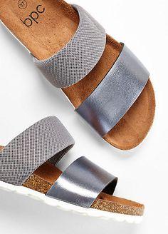 99245b102 Wide Strap Flat Sandals by bpc bonprix collection