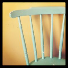 Mint painted chair