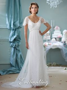 7fa199f6a667 Enchanting - 116139 - All Dressed Up, Bridal Gown 2nd Wedding Dresses, Mon  Cheri