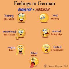 Feelings in German! . . --------------------------------------- Follow @germanlanguagecircle  Follow @germanlanguagecircle  Follow @germanlanguagecircle  Follow @germanlanguagecircle . . . #germanlanguagecircle #german #onlineclasses #germanwords #emotions #vokabeln #deutsch #deutschlernen #germanlanguageschool #languagelearning #languagestudy #feelings #goetheinstitut #maxmuellerbhavan #lernen #sprache #idiomas #foriegnlanguage #education #youtubevstiktok #tiktokvsyoutube #justiceforcarry #like I Want To Work, Give It To Me, German English, German Language Learning, Learn German, Future Career, Feeling Happy, Sad, Language