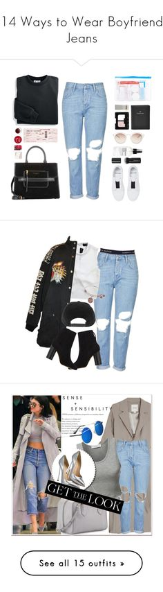 """""""14 Ways to Wear Boyfriend Jeans"""" by polyvore-editorial ❤ liked on Polyvore featuring boyfriendjeans, waystowear, Blair, Korres, Marc Jacobs, Topshop, Flight 001, Cartier, NARS Cosmetics and Fig+Yarrow"""