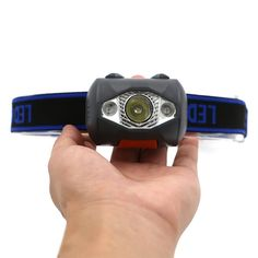 3 LED 800 Lumens 4 Modes Mini Headlamp – Gift for Crush